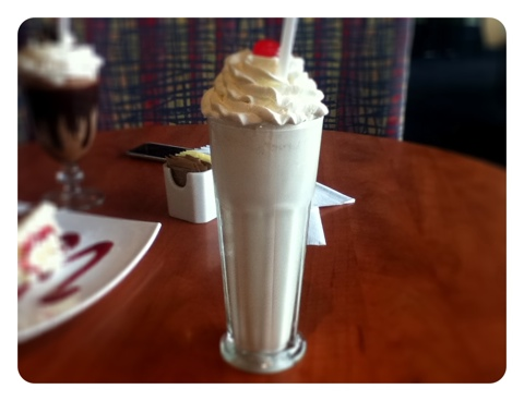 cafe demetre - vanilla shake