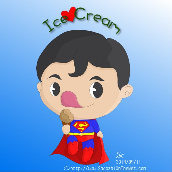 Superman Chibi Drawing Ice Cream Chibi Superman